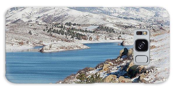 Mountain Lake In Winter Scenery Galaxy Case