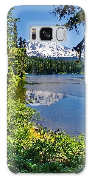Mountain Lake Reflections Galaxy Case by Ansel Price