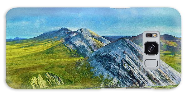 Mountain Landscape Digital Art Galaxy Case