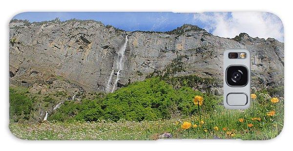 Mountain Landscape, Spring, Switzerland Galaxy Case