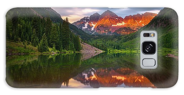 Galaxy Case featuring the photograph Mountain Light Sunrise by Darren White