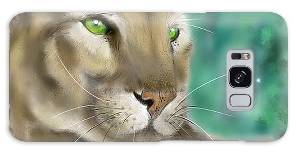 Galaxy Case featuring the digital art Mountain Lion by Darren Cannell