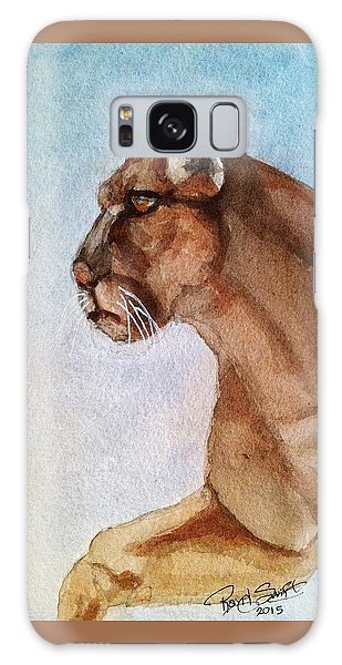 Mountain Lion Galaxy Case by Rand Swift