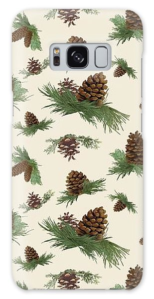 Fall Galaxy Case - Mountain Lodge Cabin In The Forest - Home Decor Pine Cones by Audrey Jeanne Roberts