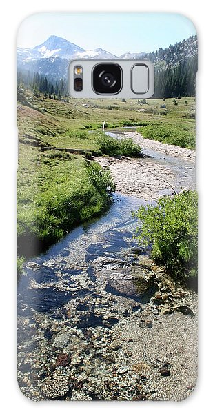 Mountain Meadow And Stream Galaxy Case