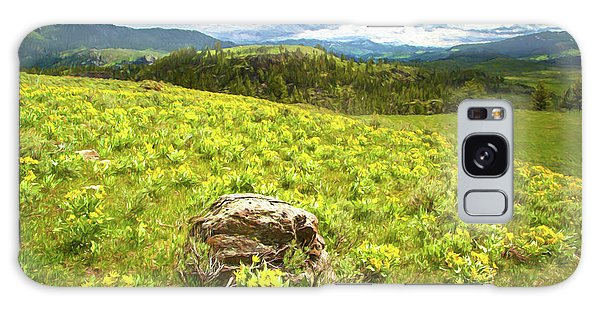 Mountain Meadow Impressionist Digital Art Galaxy Case