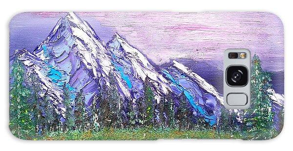 Mountain Meadow Landscape Scene Galaxy Case