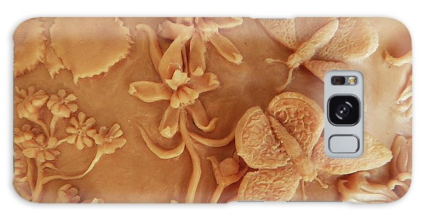 Mountain Meadow Original Clay Relief - Checkerspot Butterfly Detail Galaxy Case