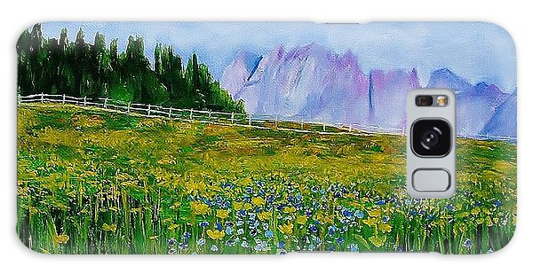 Mountain Meadow Wildflowers Galaxy Case