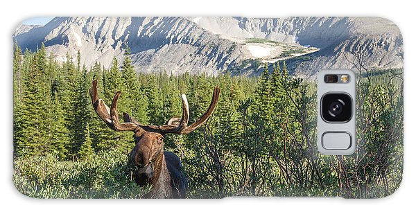 Mountain Moose Galaxy Case by Chris Scroggins