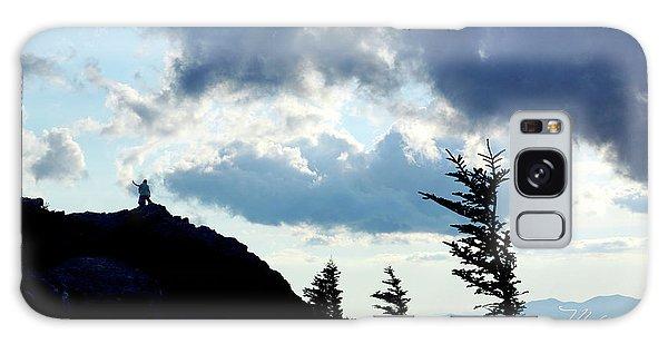 Mountain Peak Silhouette Galaxy Case
