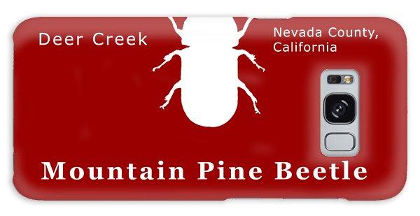 Mountain Pine Beetle White On Black Galaxy Case