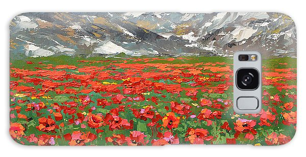Mountain Poppies   Galaxy Case by Dmitry Spiros