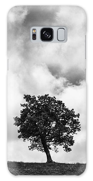 Tree On Hill - Doughton Park Blue Ridge Parkway Galaxy Case