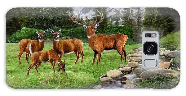 Sportsman Galaxy Case - Mountain Red Deer Safari by Glenn Holbrook