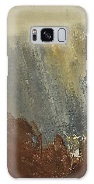 Mountain Side In Autumn Mist. Up To 90x120 Cm Galaxy Case