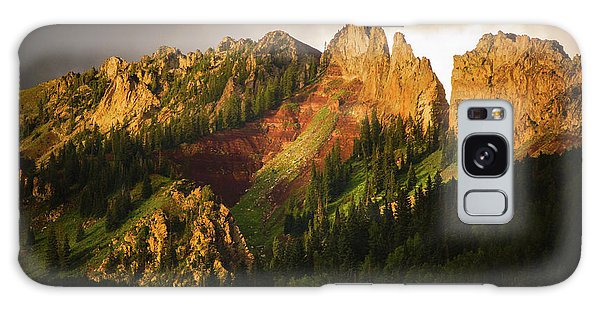 Mountain Storm Light Galaxy Case by John De Bord