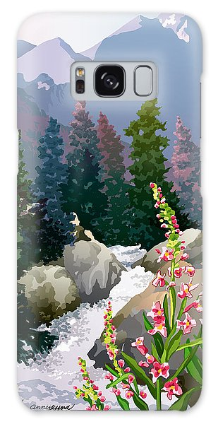 Mountain Stream Galaxy Case by Anne Gifford