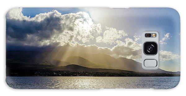 Mountain Sunbeams Galaxy Case