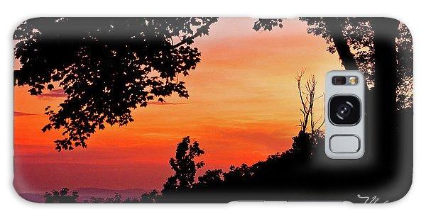 Mountain Sunrise Galaxy Case by Meta Gatschenberger