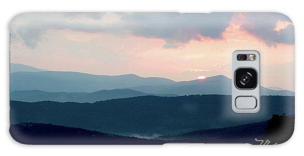 Blue Ridge Mountain Sunset Galaxy Case by Meta Gatschenberger