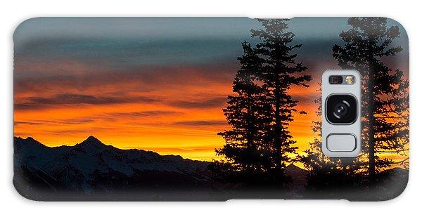 Mountain Sunset Galaxy Case