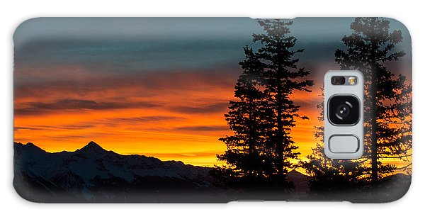 Mountain Sunset Galaxy Case