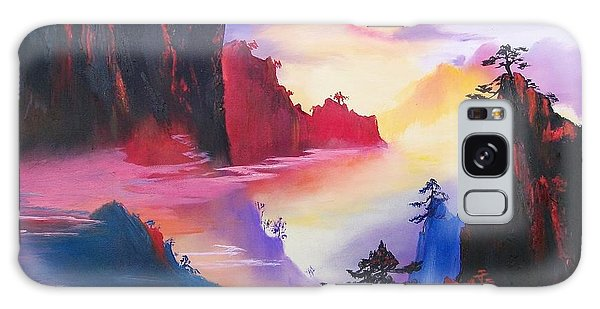 Mountain Top Sunrise Galaxy Case