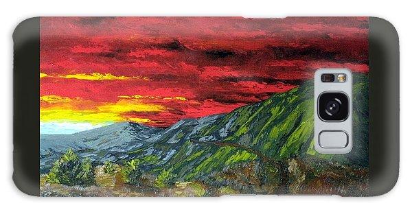Mountain Trail Sunrise Galaxy Case