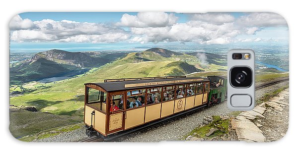 Sea Lily Galaxy Case - Mountain Train by Adrian Evans