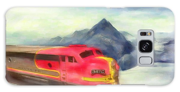 Mountain Train Galaxy Case by Michael Cleere