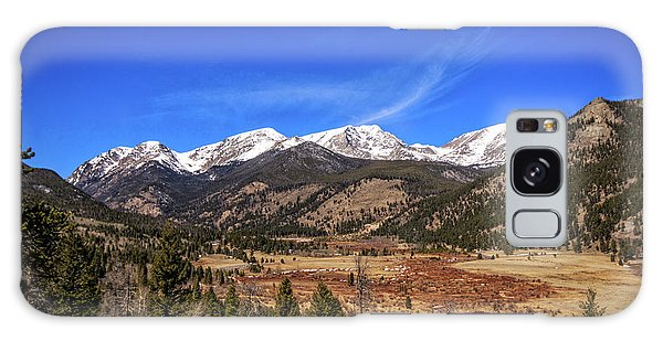 Mountain View From Fall River Road In Rocky Mountain National Pa Galaxy Case by Peter Ciro