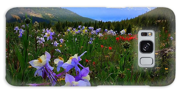 Mountain Wildflowers Galaxy Case by Karen Shackles
