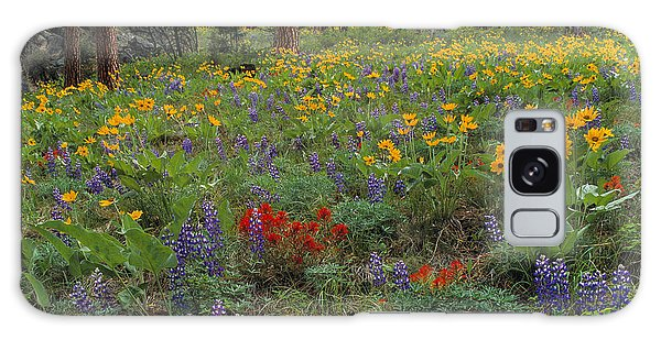 Mountain Wildflowers Galaxy Case