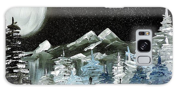 Mountain Winter Night Galaxy Case by Tom Riggs