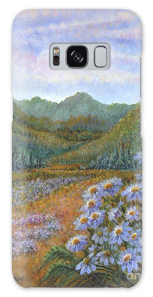 Mountains And Asters Galaxy Case
