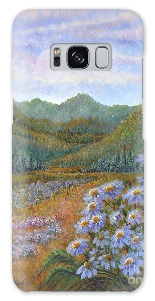 Mountains And Asters Galaxy Case by Holly Carmichael