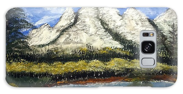Mountains And Evergreens Galaxy Case