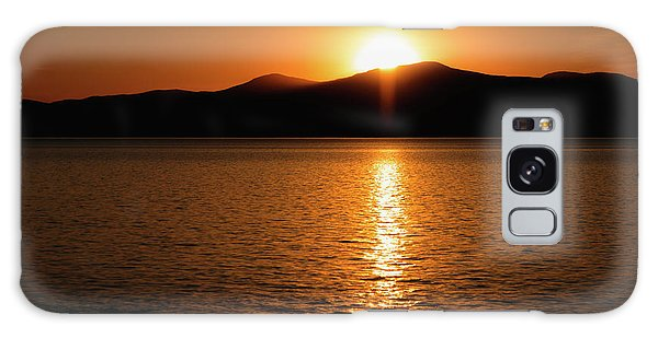 Mountains And River At Sunset Galaxy Case