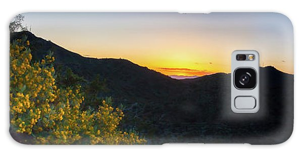 Mountains At Sunset Galaxy Case