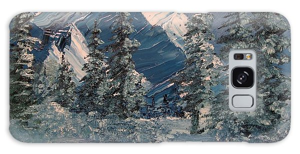 Mountains In Winter Galaxy Case