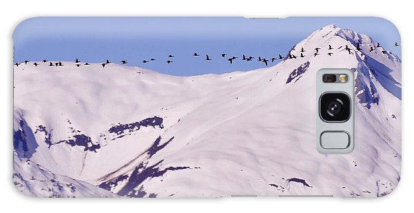 Mountaintop Geese II Galaxy Case