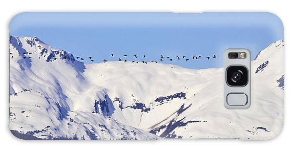 Mountaintop Geese Galaxy Case