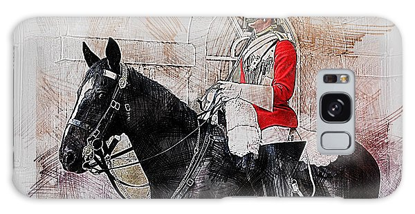 Mounted Household Cavalry Soldier On Guard Duty In Whitehall Lon Galaxy Case