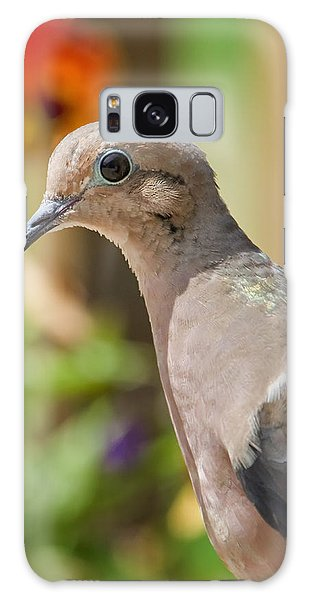 Mourning Dove And Flowers Galaxy Case