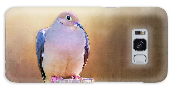 Mourning Dove Painted Portrait Galaxy Case
