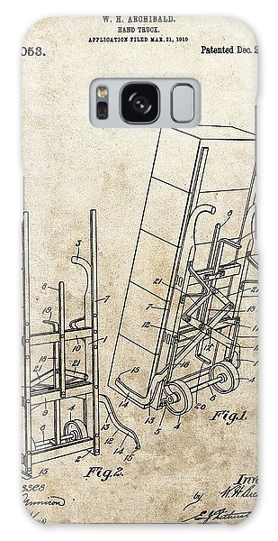 Old Truck Galaxy Case - Moving Dolly Patent by Dan Sproul