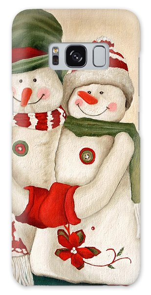 Mr. And Mrs. Snowman Vintage Galaxy Case