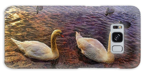 Mr And Mrs Swan Go Viisiting Galaxy Case