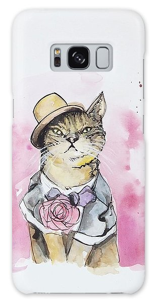 Mr Cat In Costume Galaxy Case by Venie Tee